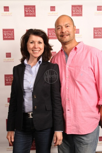 Seattle & Oregon Wine Awards Gold Medal Experience 2014. Peggy Reddy and Christopher Chan.